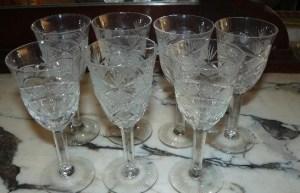 copas de cristal tallladas