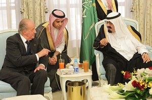 El rey en  Arabia Saudí