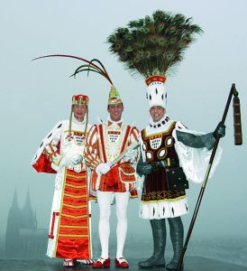 El trío del Carnaval de Colonia