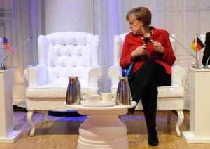Merkel en La Haya