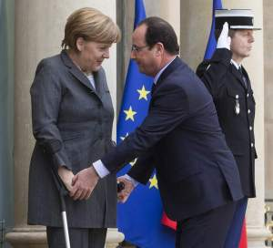 Con hollande antes de reunión sobre Ucrania