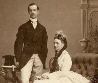 Cristian IX de Dinamarca y la reina Luisa, princesa de HesseKassel