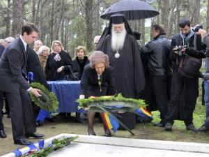La reina Sofía ofrenda floral