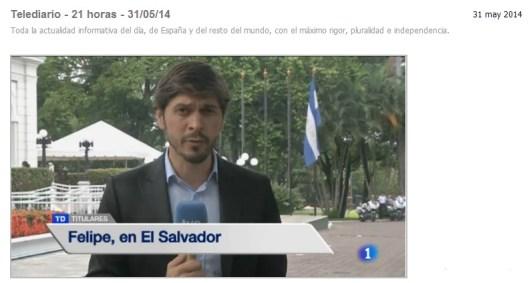 Felipe en El Salvador