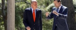 El rey con el presidente en Marivent