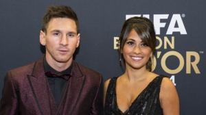 Messi y su mujer