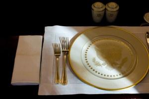 Puesto de mesa en la Casa Blanca