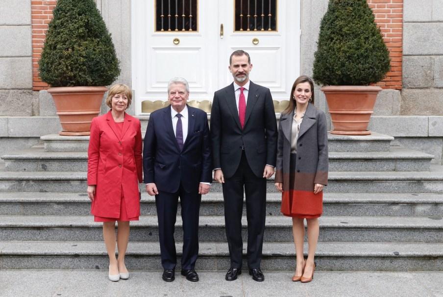© Casa de S.M. el Rey Sus Majestades los Reyes acompañados por el Presidente de la República Federal de Alemania, Joachim Gauck y Daniela Schadt