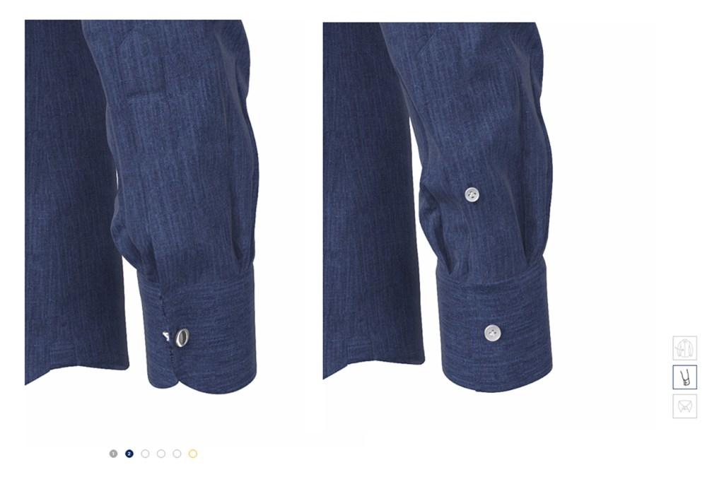 camicia polsino realismo 3d tessuto