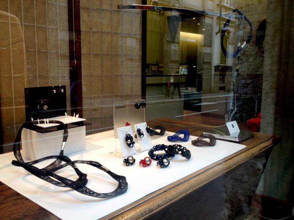 Esposizione Falabrac gioielli stampa 3D