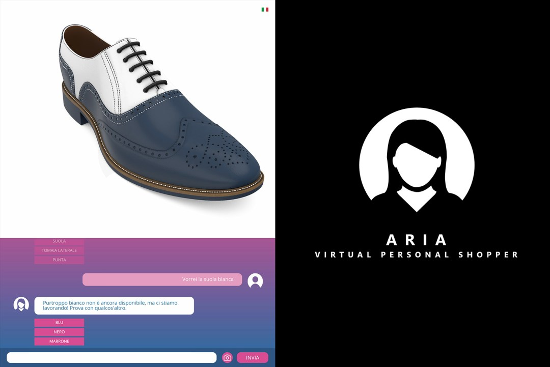 ARIA 3D virtual personal shopper customizer