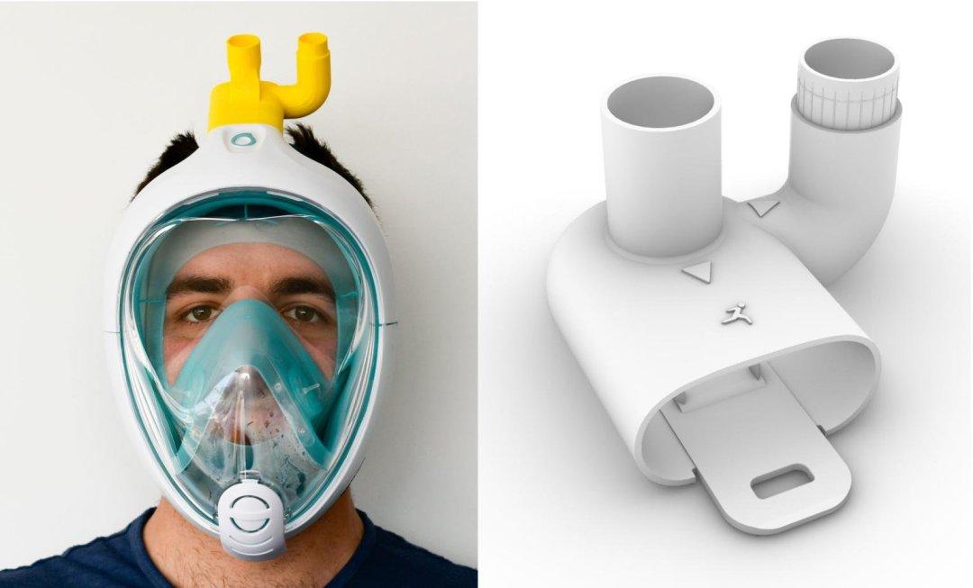 maschera decatlhon stampa 3D protocube covid