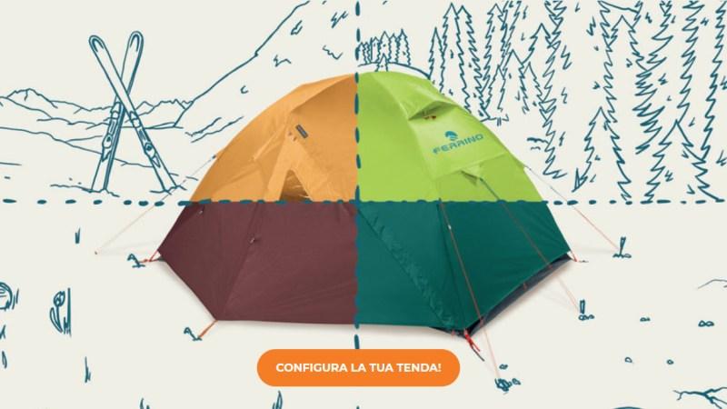 tentset ferrino configuratore 3D tenda outdoor