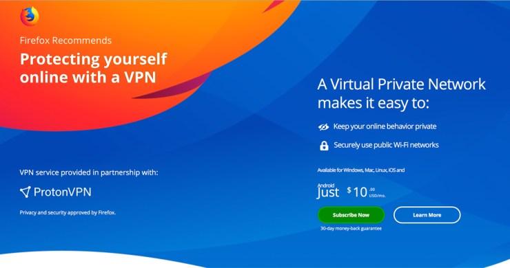 Mozilla & ProtonVPN Team UP | September 30, 2019