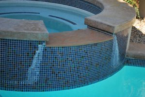 pool tile cleaning to remove calcium in