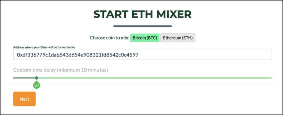 Ethereum mixer