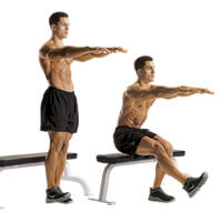 Image result for one leg squats with bench