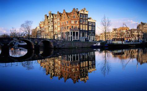 Grachten van Amsterdam (Scene in Amsterdam)