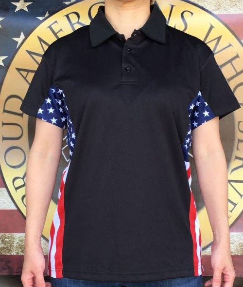 Women's patriot polo shirt