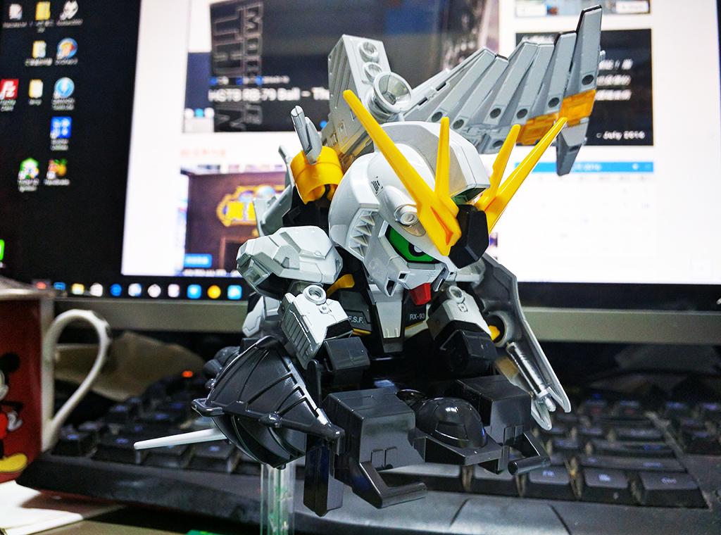 SD BB戰士[387] RX-93 Nu Gundam (金屬色ver.)