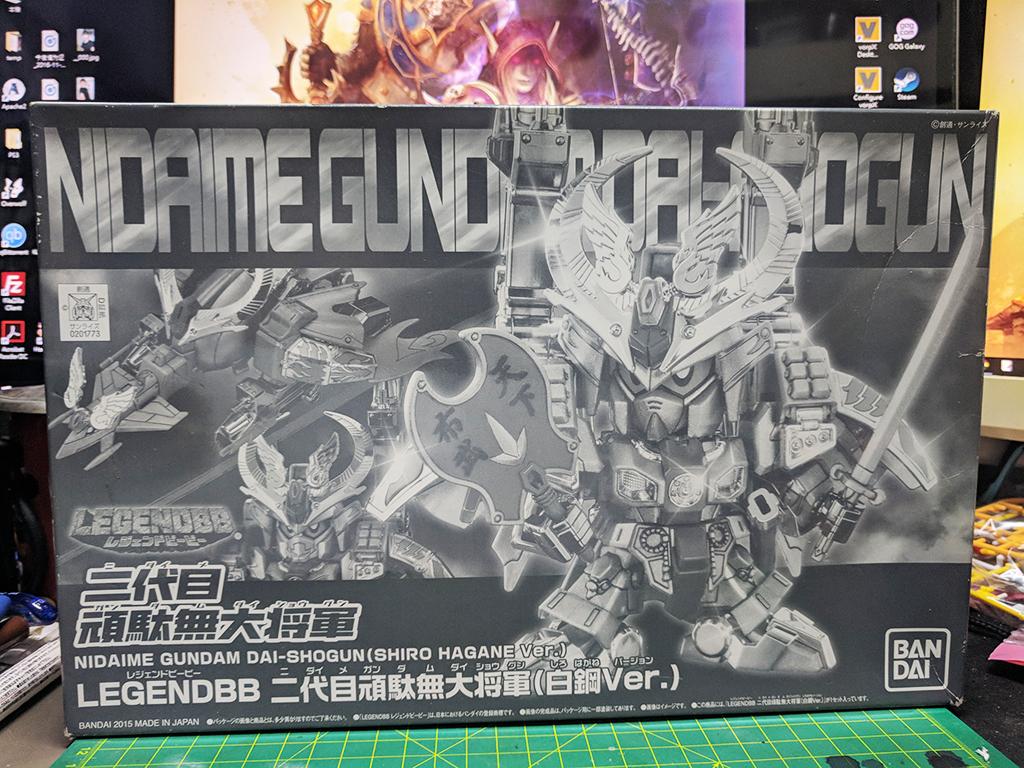 Legend BB 二代目頑駄無大將軍 – 白鋼Ver.