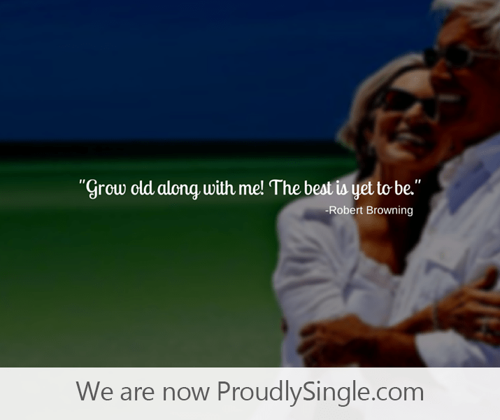 ProudlySingle.com Seniors photo 50+ Dating can be just as hot as young Millennials