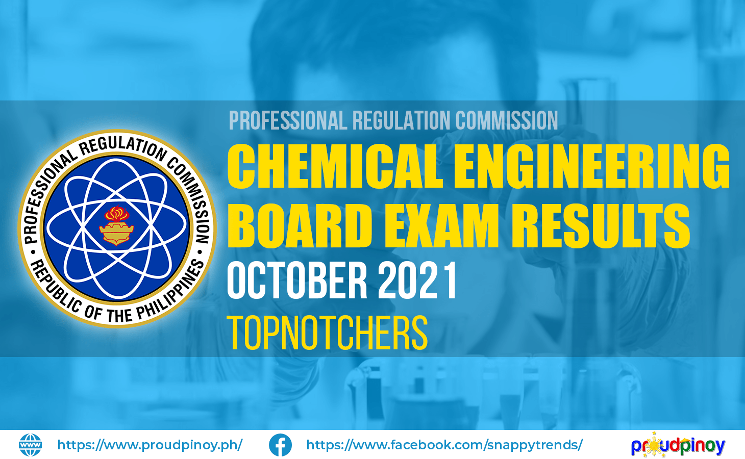Chemical Engineering Exam Results October 2021 Topnotchers