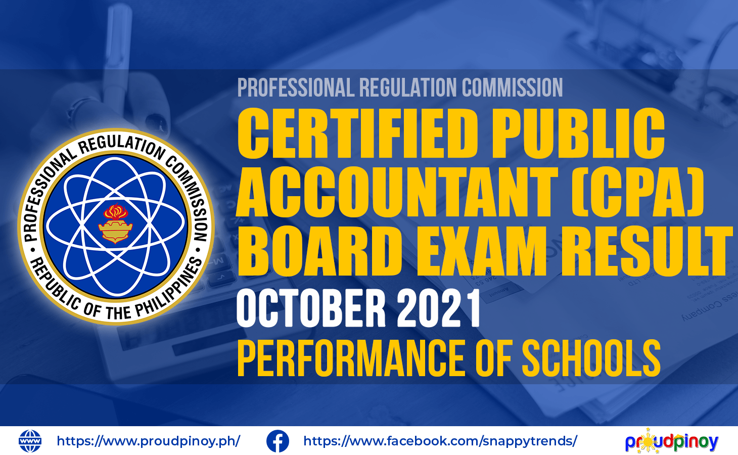 CPA Board Exam Results October 2021 - Performance of Schools