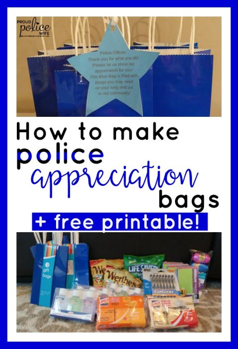 HOW TO MAKE BLUE BAGS FOR POLICE WEEK Amp A FREE PRINTABLE