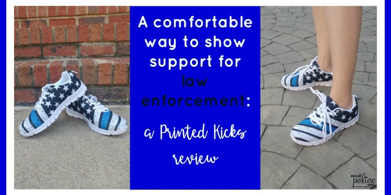 A Comfortable Way to Show Support for Law Enforcement: a Printed Kicks review