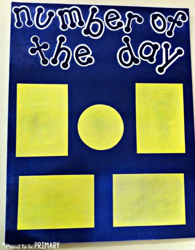number of the day activities - poster