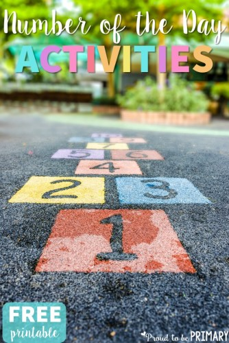 number of the day activities