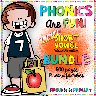 Phonics are Fun Word Family Activities