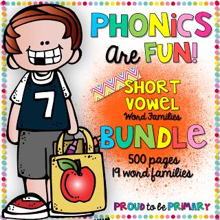 Phonics are Fun Word Family Activities