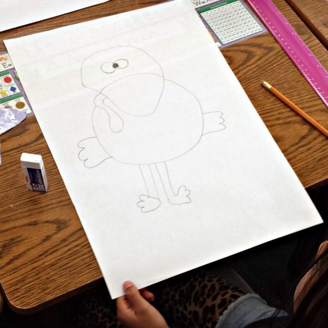 kid drawing of a turkey