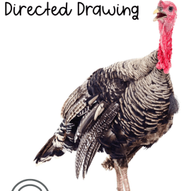 Turkey Thanksgiving Directed Drawing Art Activity for Kids
