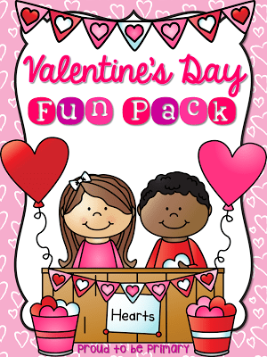 valentine's day activities for elementary school - printable pack