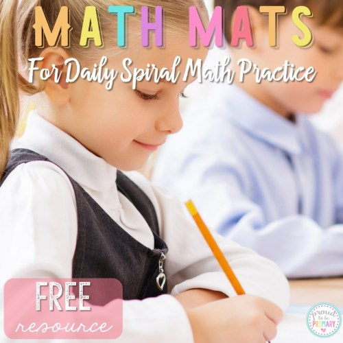 Monthly Math Mats for Daily Practice