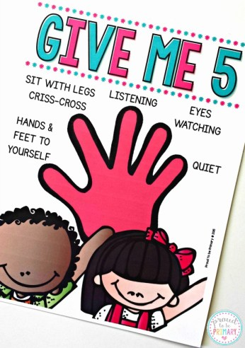 classroom management ideas give me five