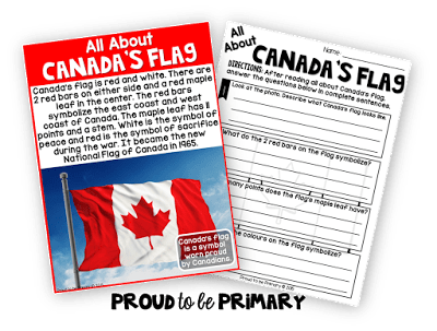 Canadian childrens books - learning about the canadian flag