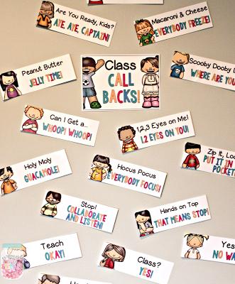 classroom management ideas class call backs
