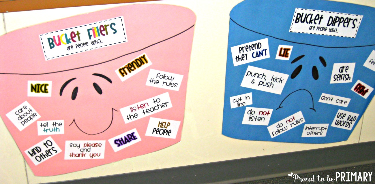 classroom management ideas bucket fillers