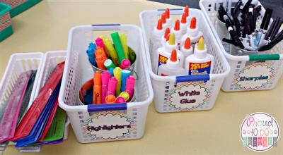 time management for teachers - school supplies