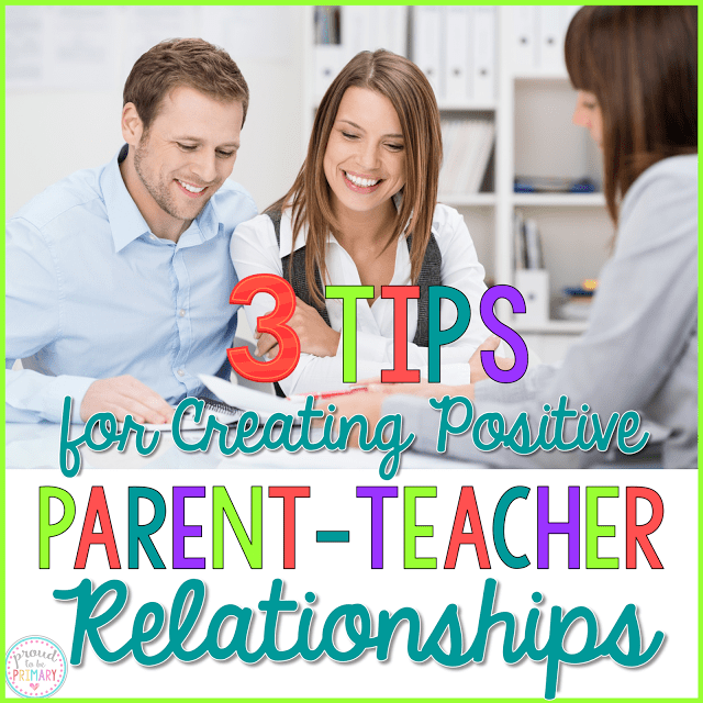 3 Tips for Creating Positive Parent-Teacher Relationships with a FREE Editable Planner Sheet by Proud to be Primary