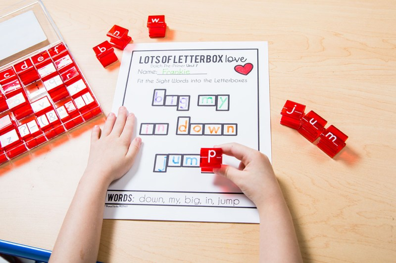 sight word letter stamping