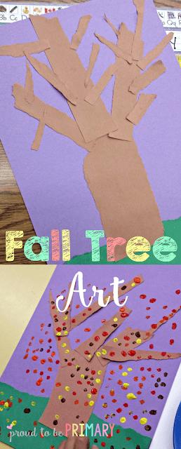 fall arts and crafts - fall tree art