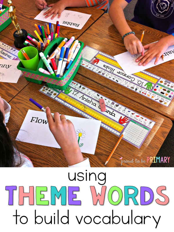 Are you a classroom teacher looking for ways to help your students build their vocabulary? Theme word cards are the special ingredient! Help children learn about any topic, theme, or unit using theme word cards.
