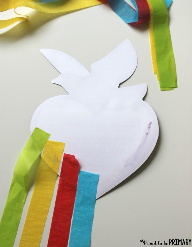 peace craft - dove foldable craftivity