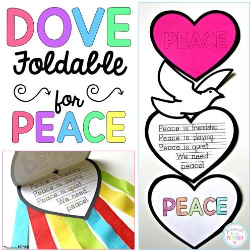 FREE dove peace craft - foldable writing craftivity
