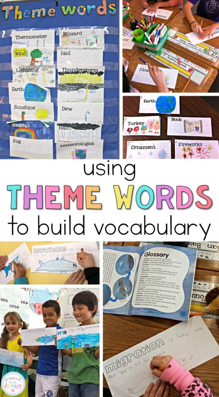 building student vocabulary - theme words